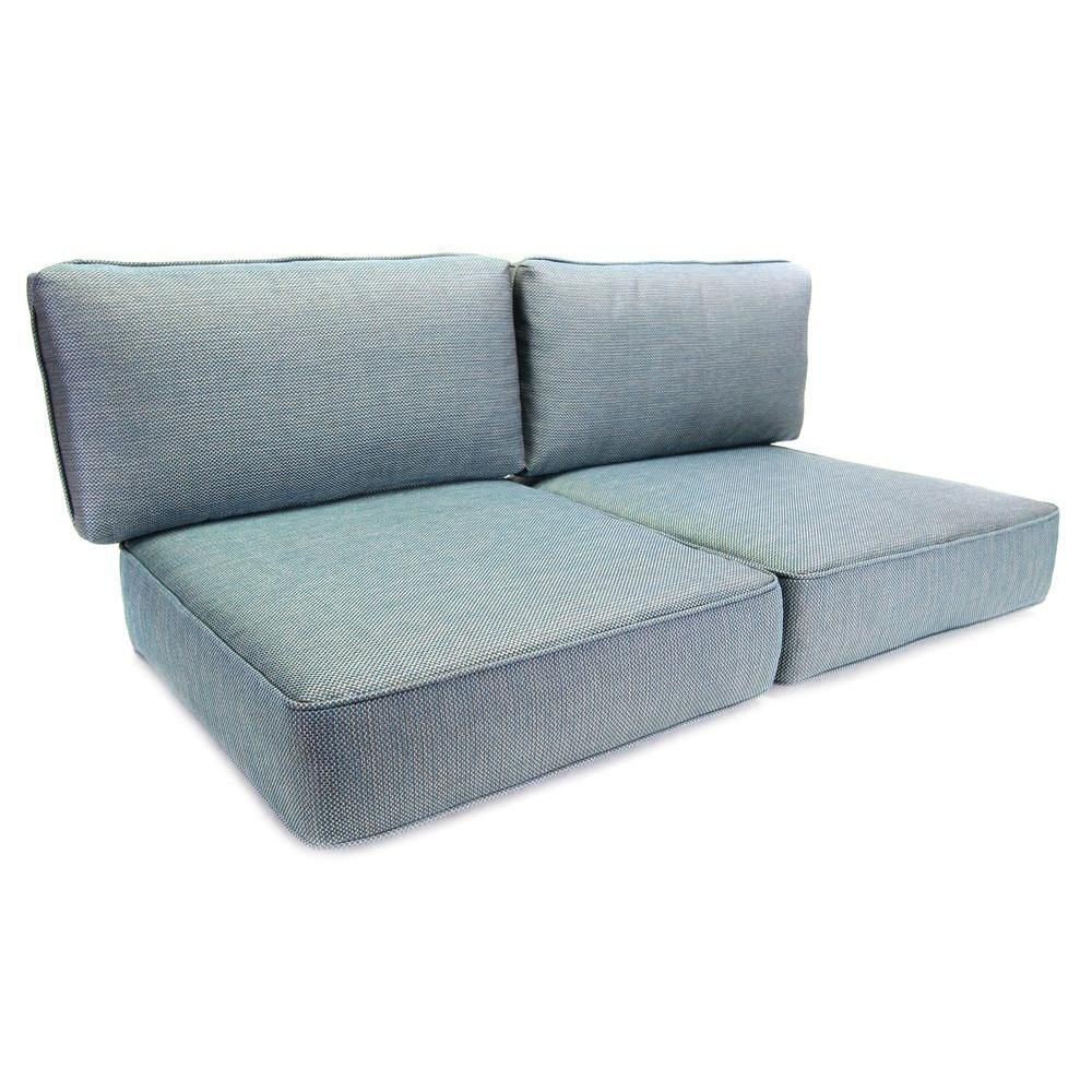 Hampton Bay Fenton Replacement Outdoor Loveseat Cushion Fens4cu Set