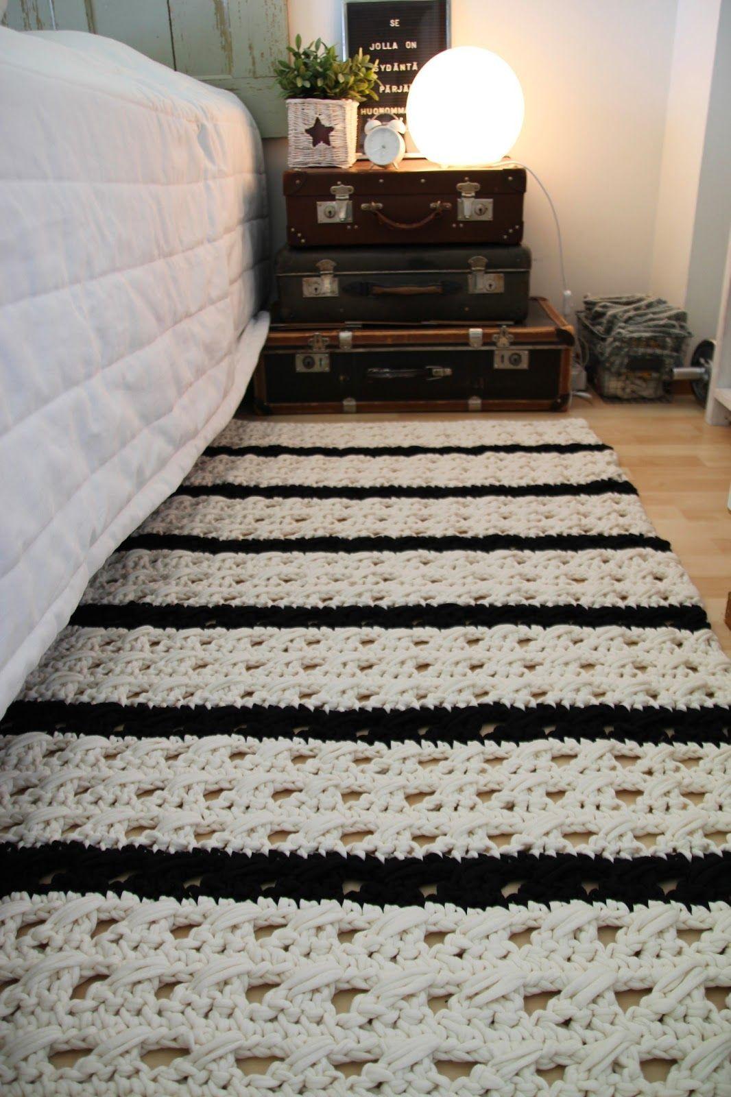 tapete para quarto de casal em crochê