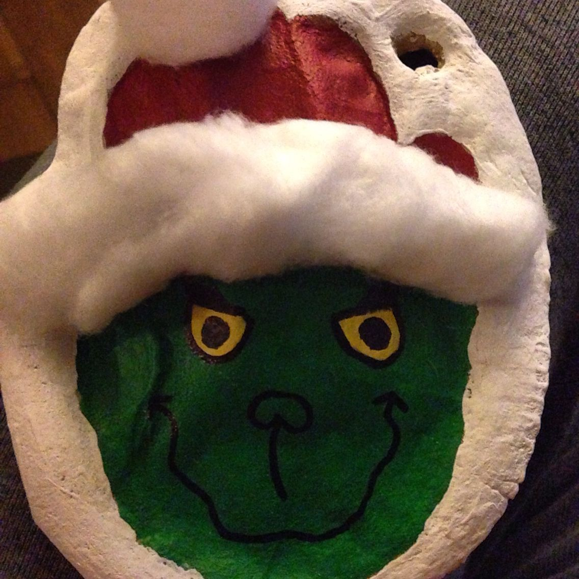 Salt Dough Grinch Ornament Use Child S Handprint In The Dough Paint And Add Cotton Christmas Crafts For Kids To Make Childs Handprint Handprint Crafts