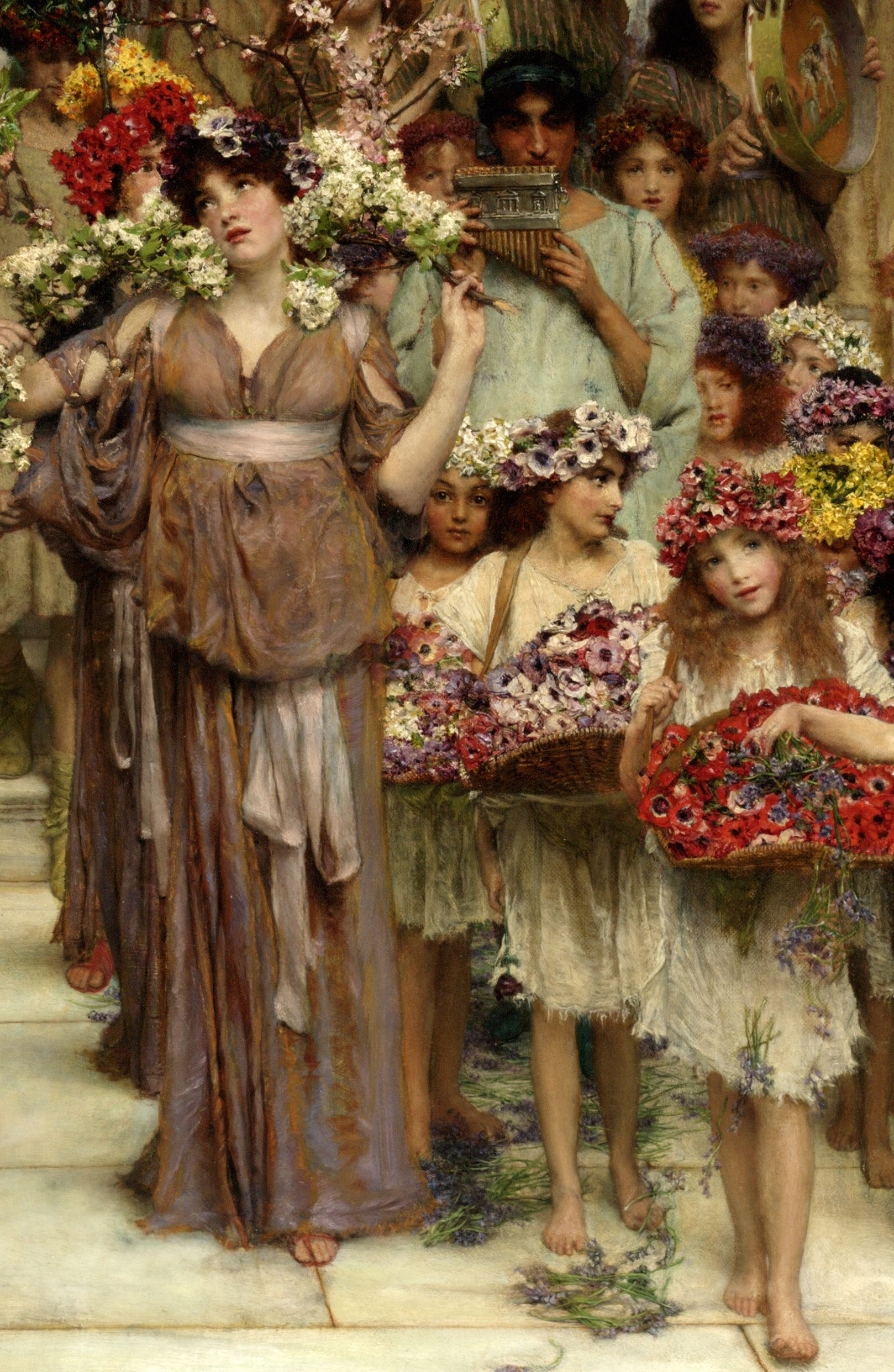 "Sir Lawrence Alma-Tadema ""Spring"" -click on image to enlarge ..."