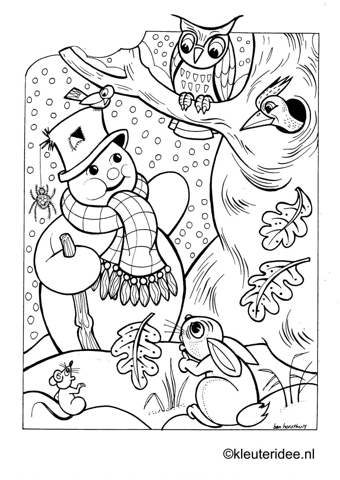 Free Printable Snowman Coloring Pages For Preschool