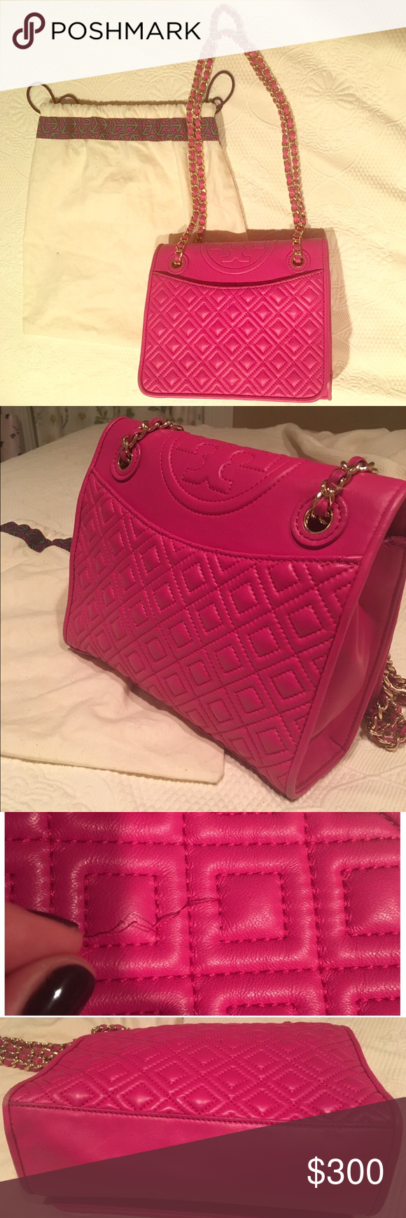 Pink Tory Burch Quilted Fleming Bag My Posh Picks Pinterest Convert Medium Amazing Soft Leather In