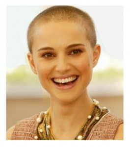 Natalie Portman with a shaved head, wowzers!