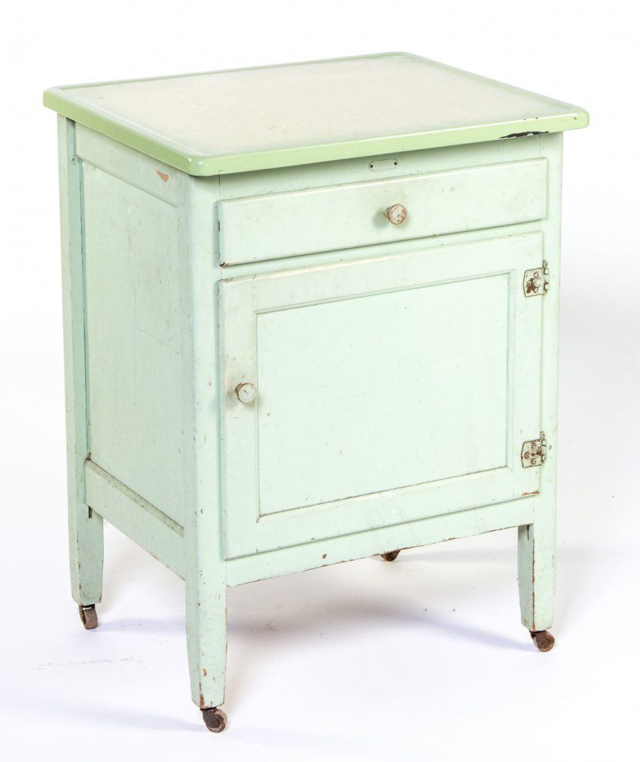 Enamel Top Cabinet Vintage 1940s Enamel Top Cabinet Hoosier Or Vintage Cabinets