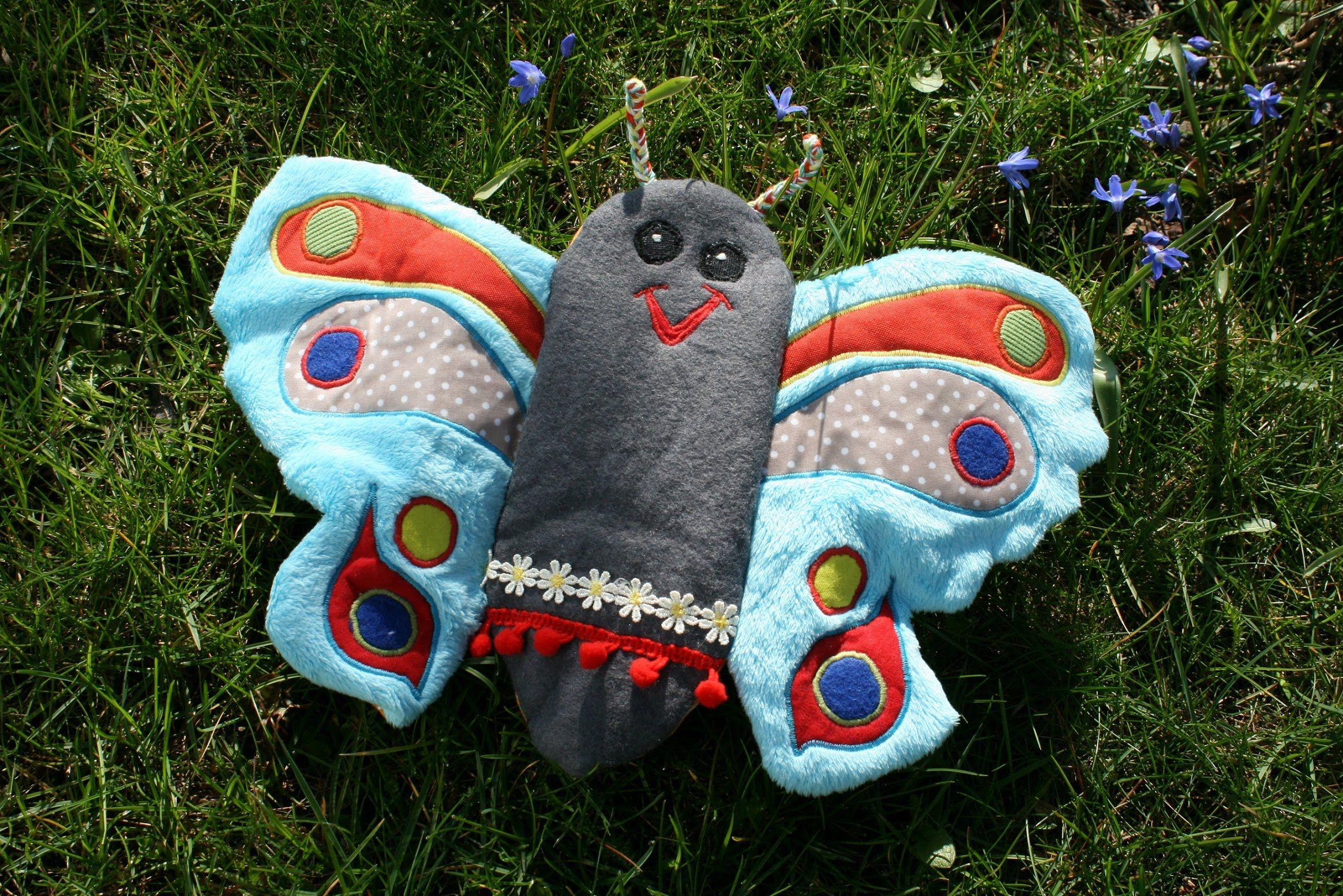 Aus einer Puppe kommt dieser bunte Schmetterling. Ich habe ihn als ...