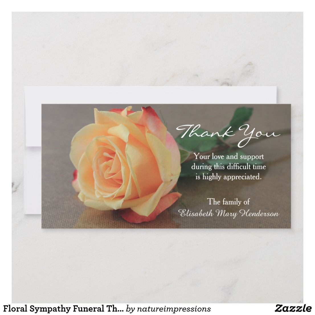 Orange Yellow Roses Personalized Wedding Thank You Cards