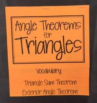 triangle sum theorem exterior angle theorem foldable exterior