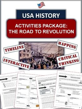 American Revolution The Road To War 6 Well Designed Pages Of