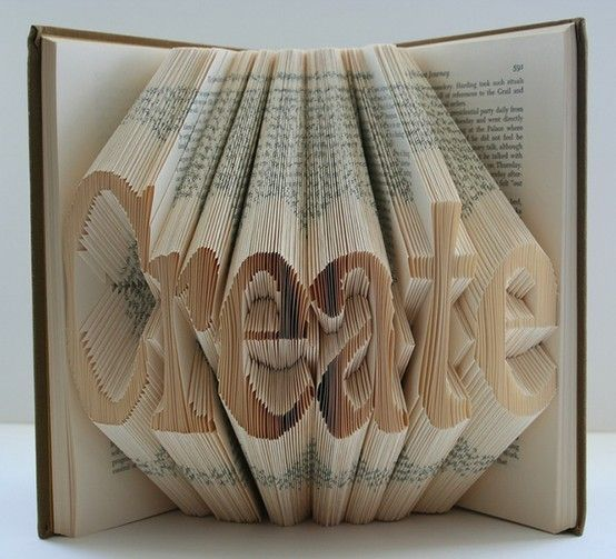 Awesome paper folding. book-art