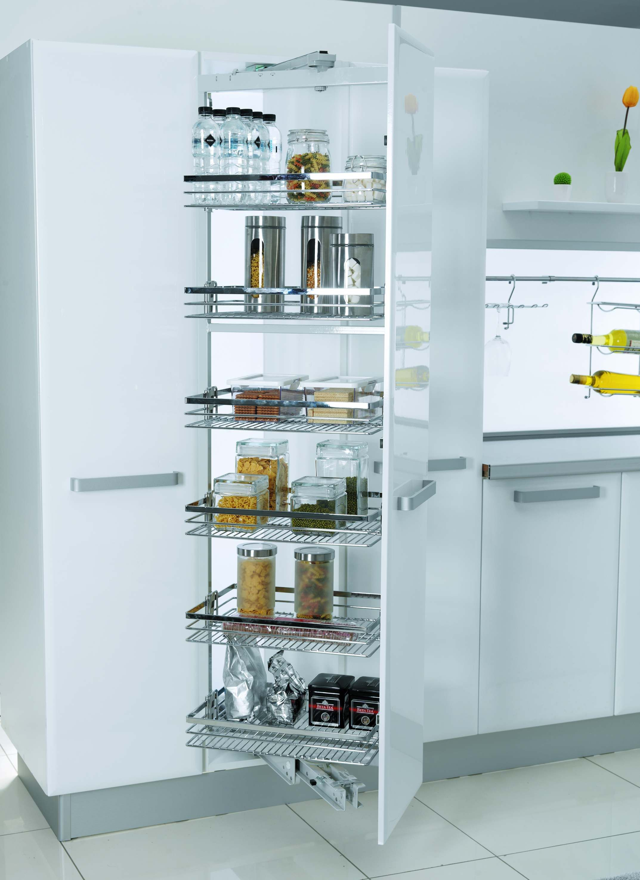 Pantry and Cabinet Drawer by soft close system for smart kitchen ...