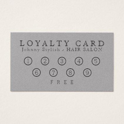 Elegant classy loyalty card gray loyalty cards colourmoves Images