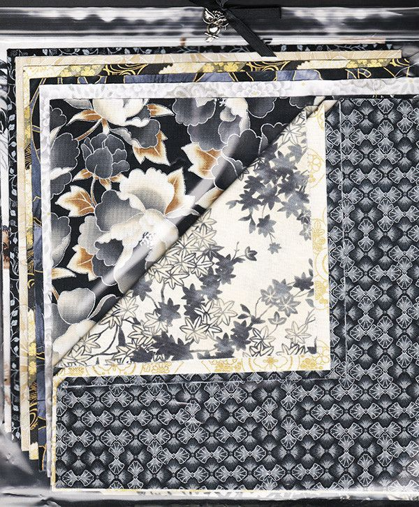 """Charm Squares - 10"""" Squares - Asian - Brown, Grey, Silver & Gold"""