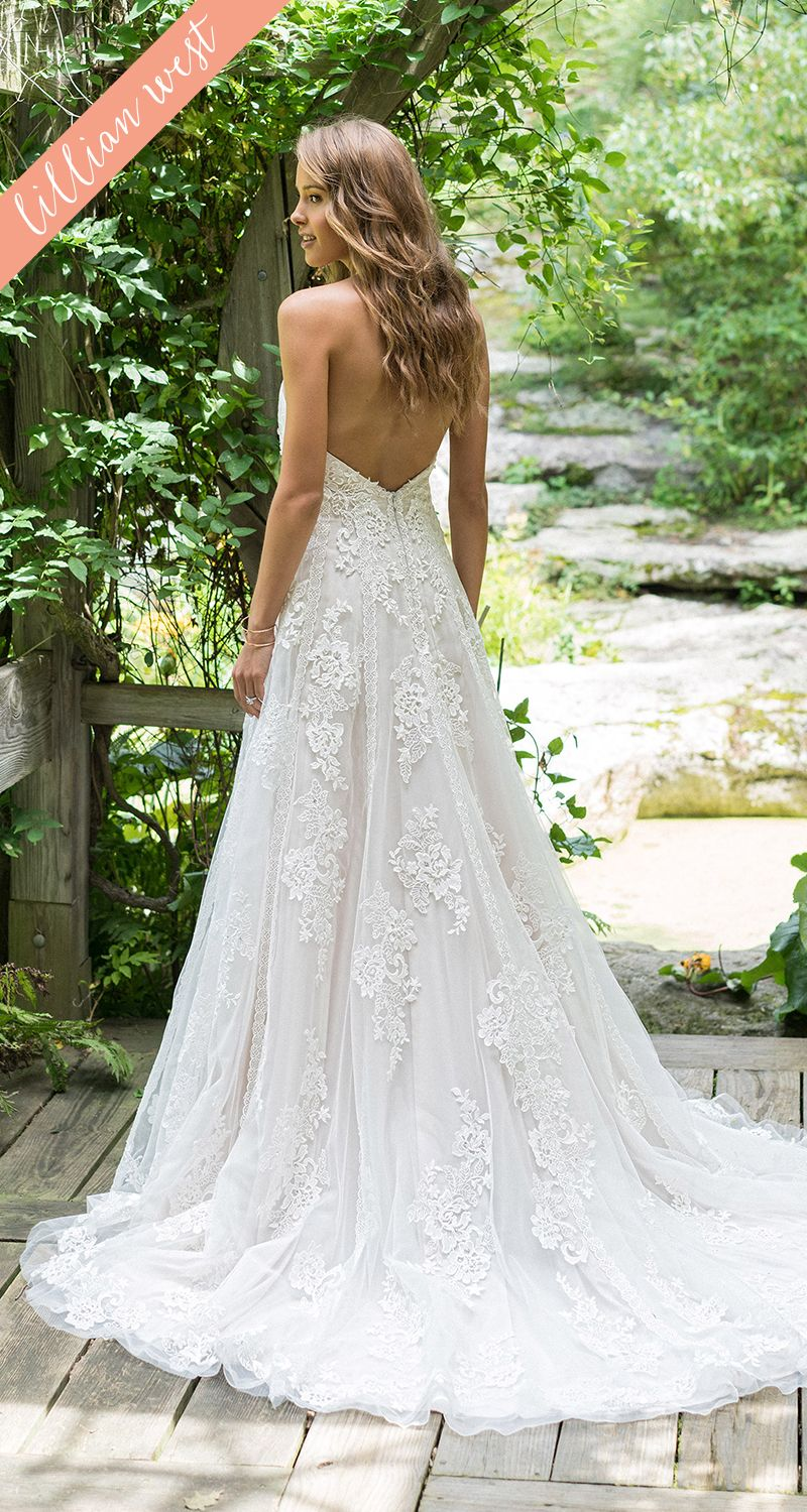 Style Illusion ALine Halter Wedding Dress with Allover Lace