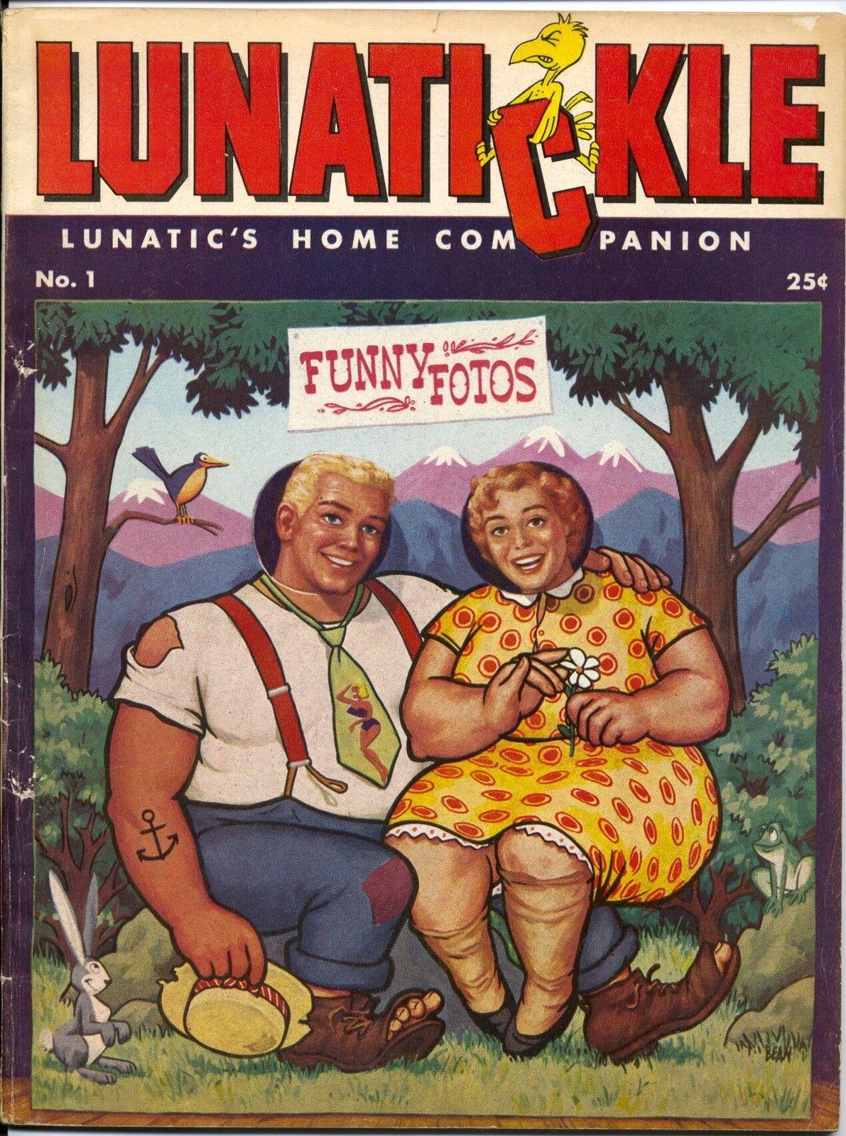 Lunatickle #1. Feb 1956. Rare parody/satire magazine by Joe Kubert and Russ Heath.