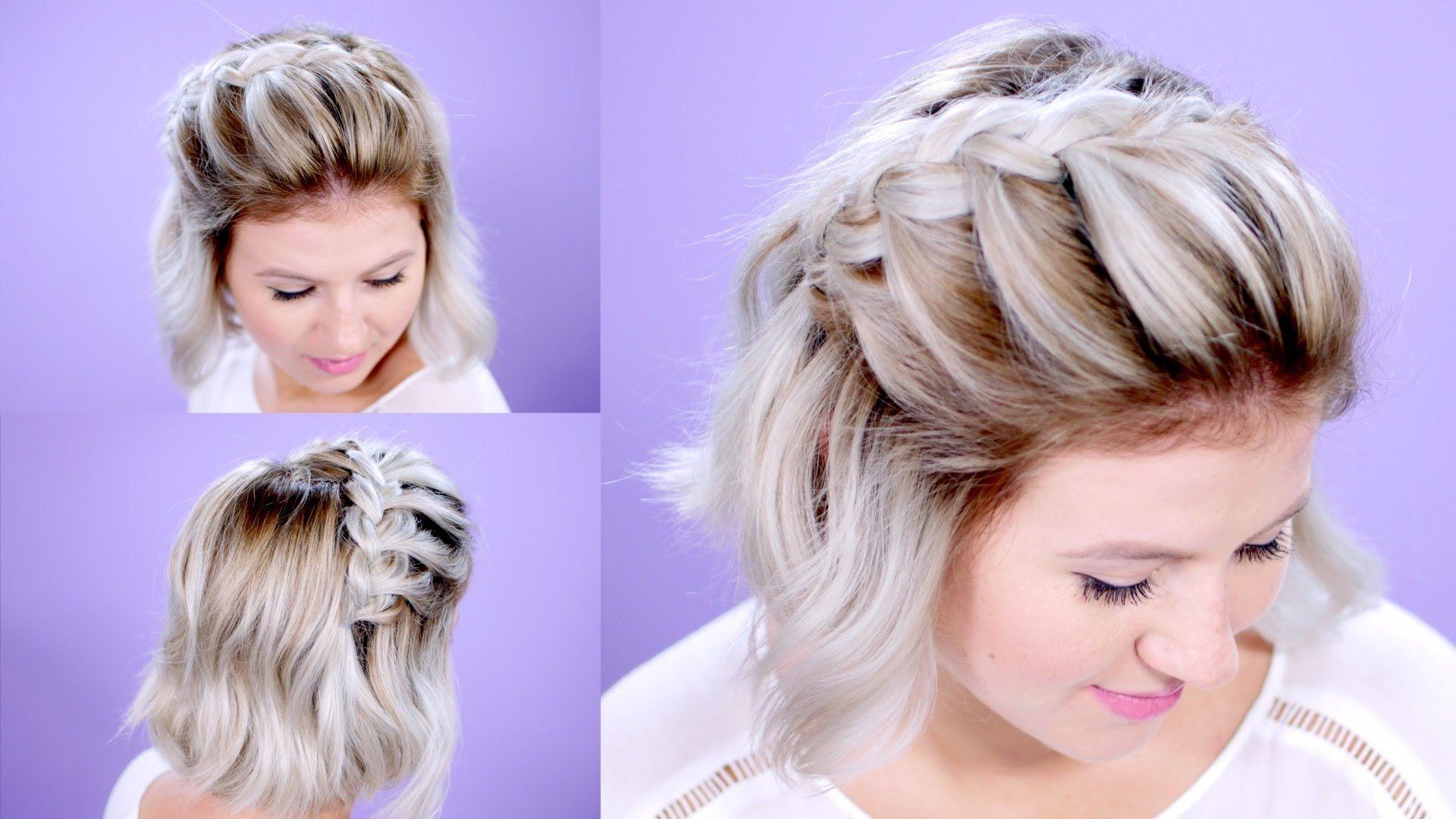 how to french braid short hair | milabu | h a i r | pinterest