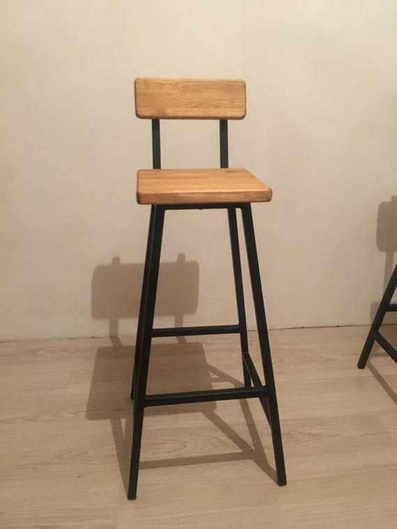 Peachy Industrial Style Bar Stool Pub Stool Wood And Metal Stool Bralicious Painted Fabric Chair Ideas Braliciousco