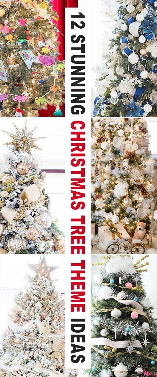 12 Stunning Christmas Tree Theme Ideas Ohmeohmy Blog Christmas Tree Wallpaper Christmas Tree Themes Colors Red Christmas Tree Themes