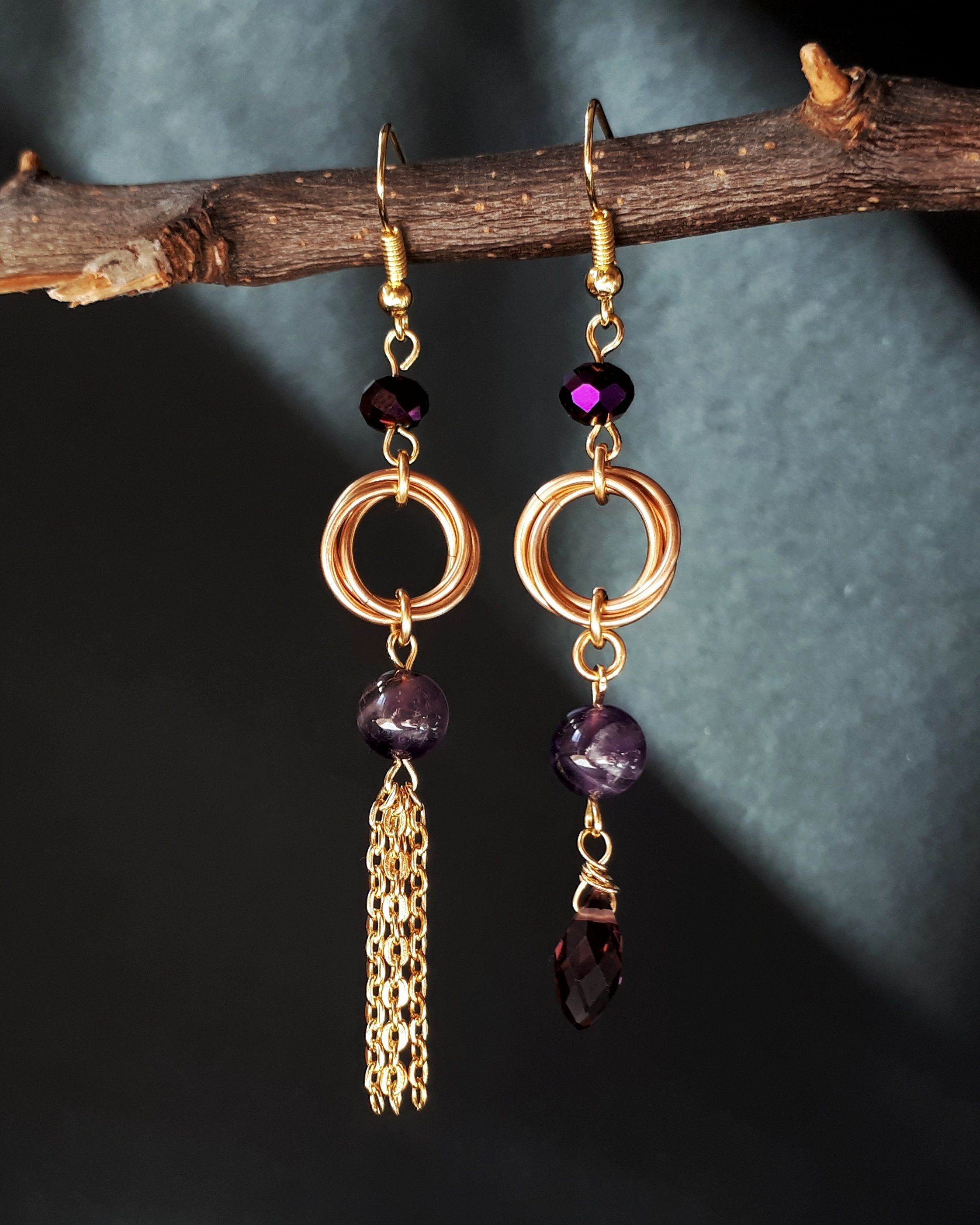 pebble earrings gold jewellery oliver camryn drop asymmetric bonas