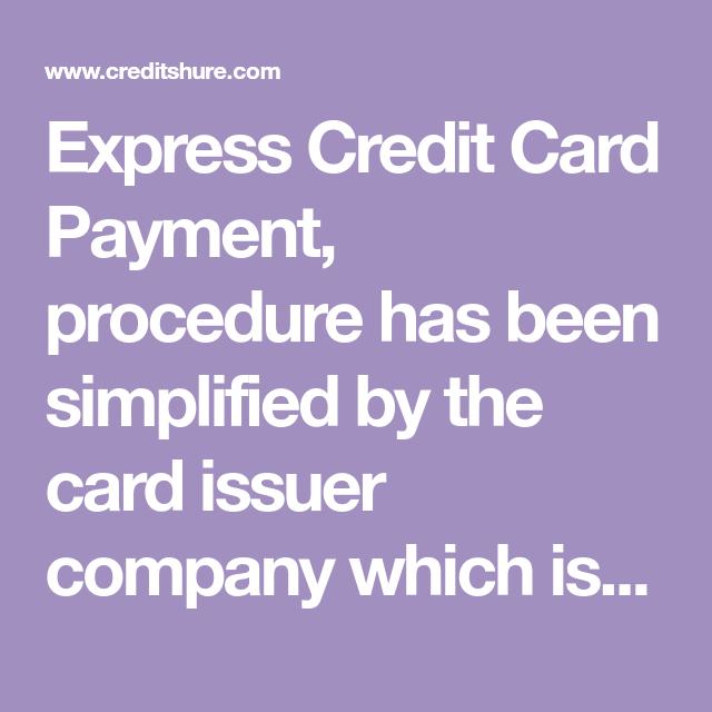 Express Credit Card Payment Credit Card Payment Credit Card Cards