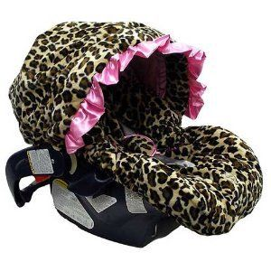 Amazon.com: Baby Bella Maya Pink Leopard Infant Car Seat Cover: Baby