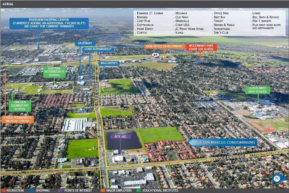 Fresno Ca Aerial View Looking West Fresno Ca Fresno