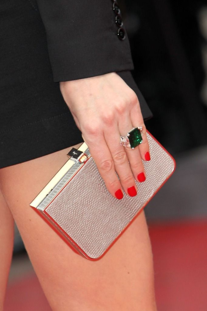 Ring + nails + clutch = spot on