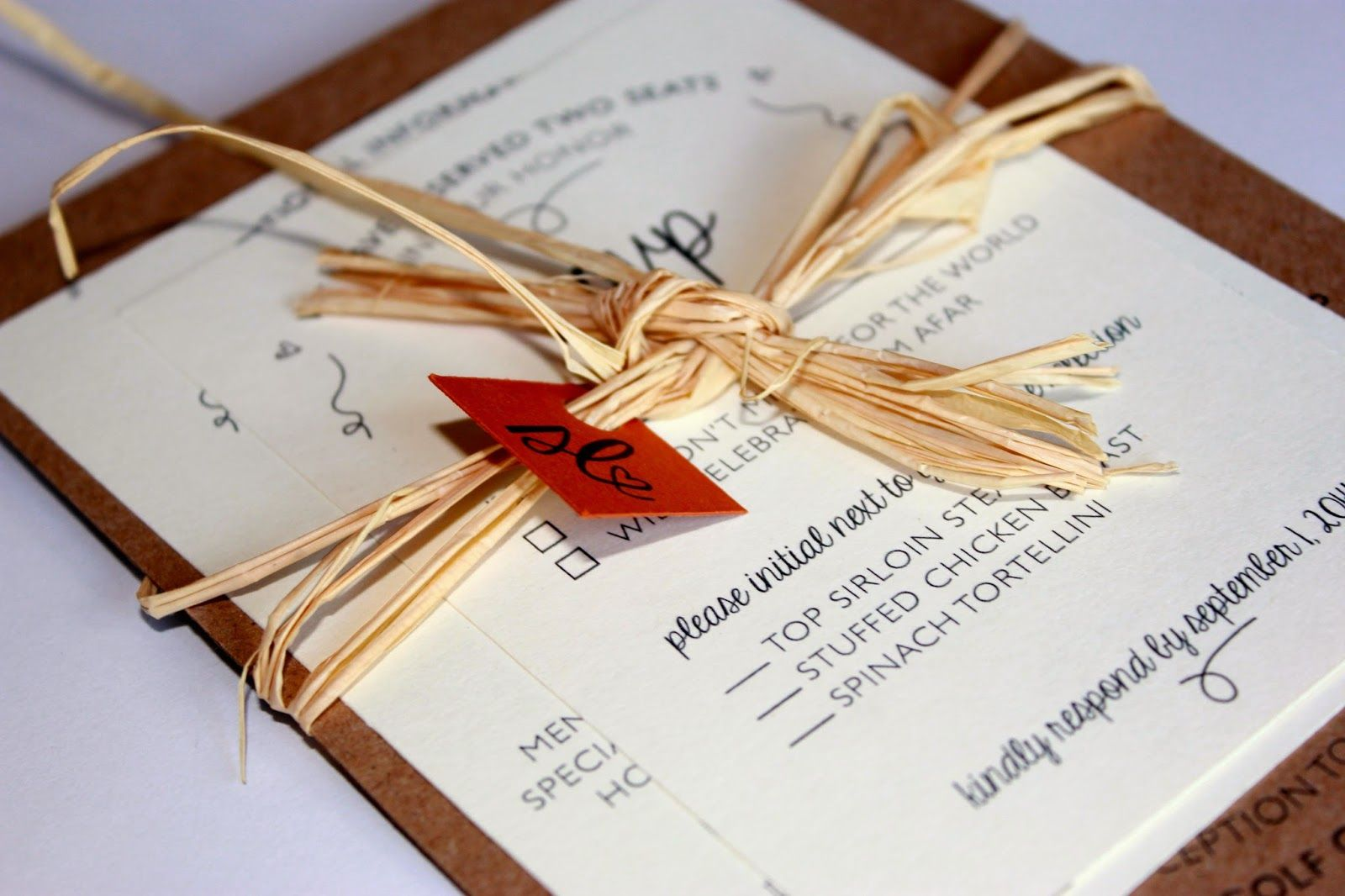 Traditional Fall Wedding Invitation