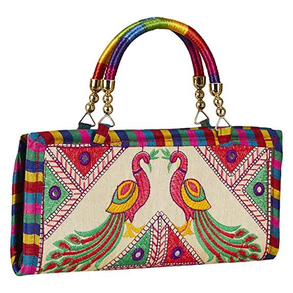 dfa51fd43255a3 PRICE : Rs. 315 Rajasthani bag Gujarati Jaipuri Embrodery Clutch Bag/ladies  Girls handbags stylish latest