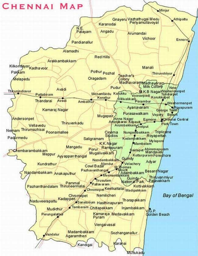Chennai City Map Chennai City Map | Chennai City Plan | Chennai, City maps, City Chennai City Map