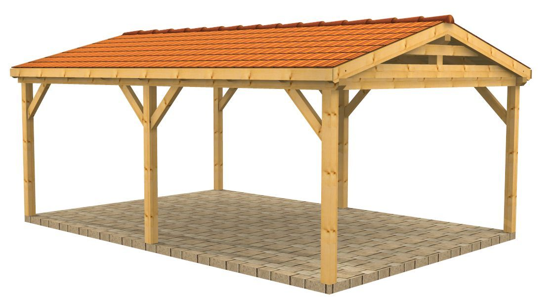 High quality timber buildings wooden carports shelters for 2 car carport plans