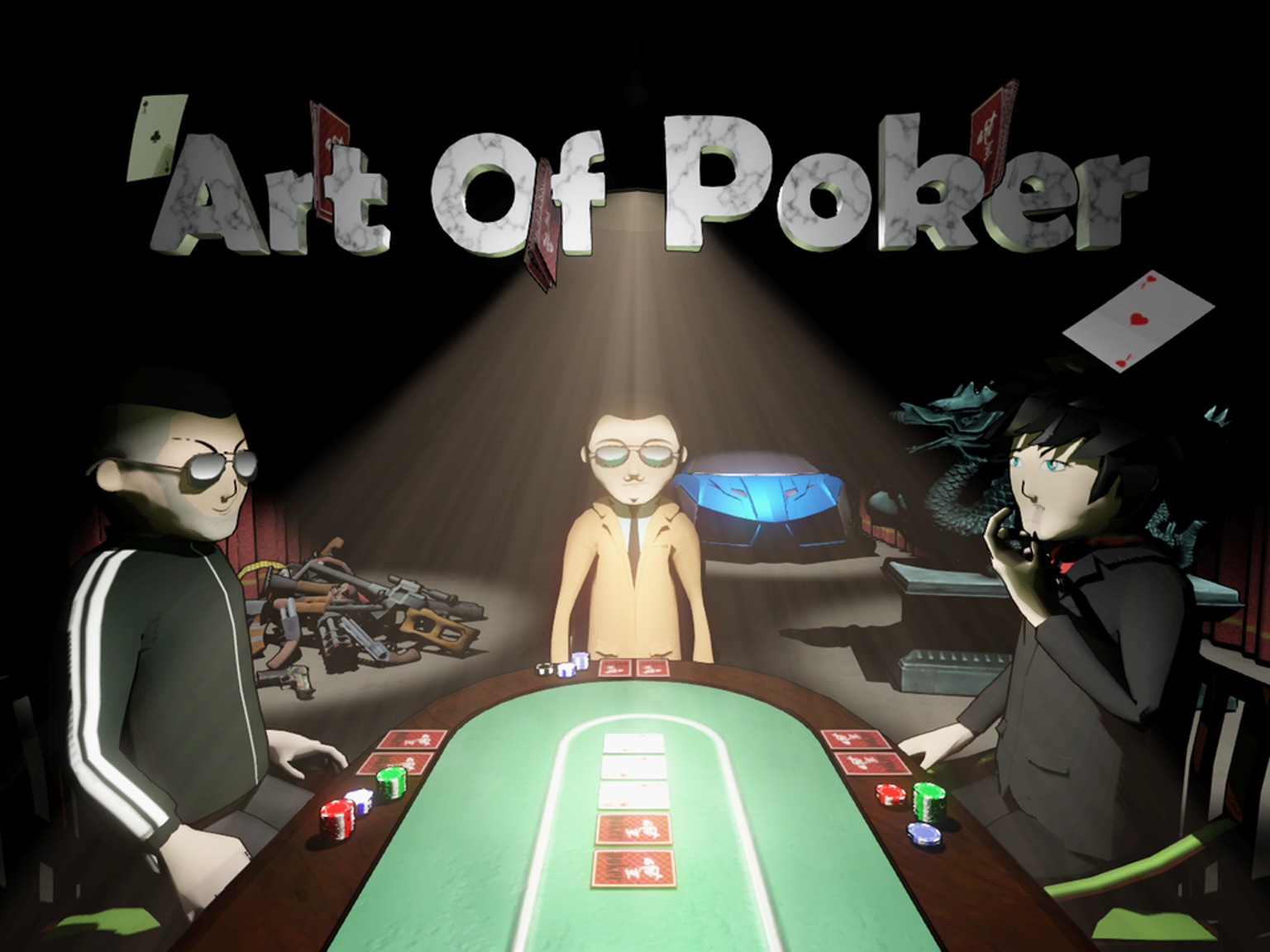 A multiplayer PC poker game with various gameplay