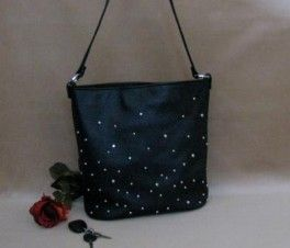 Crystal & Silver Sprinkle Concealed-Carry Tote Purse