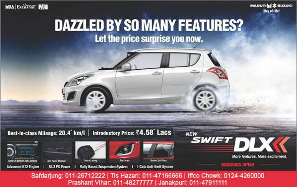 Maruti Suzuki New Swift Dlx More Features More Excitement Www