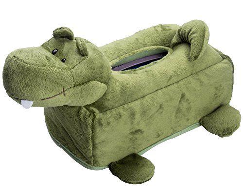 Flexibuy Cartoon Animal Design Crocodile Alligator Plush Napkin Tissue Box Case  #Flexibuy