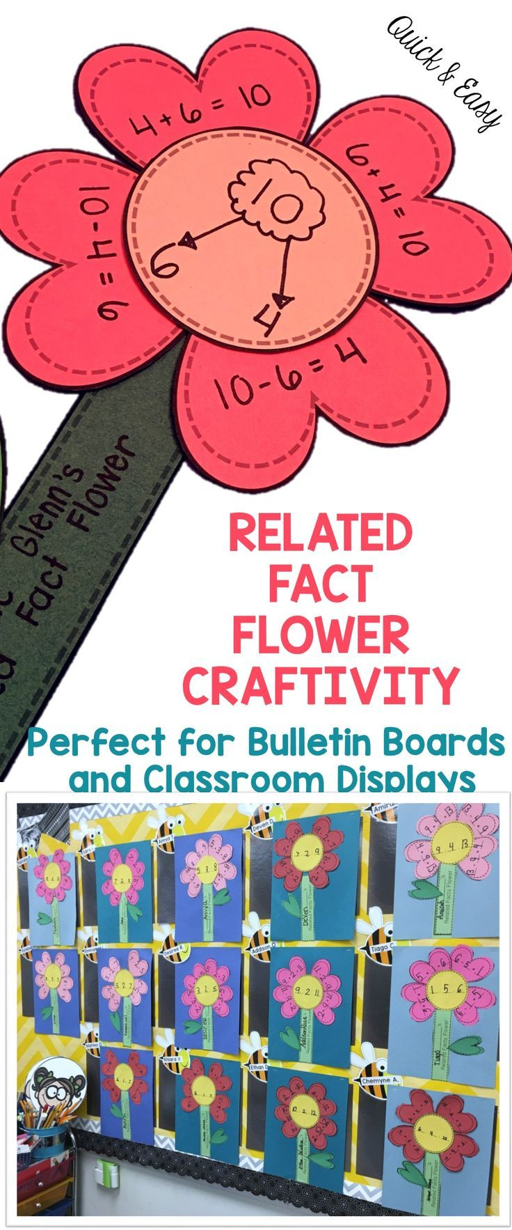 Related Facts Craft Great For Bulletin Boards Math Crafts Math Projects First Grade Crafts [ 1766 x 736 Pixel ]