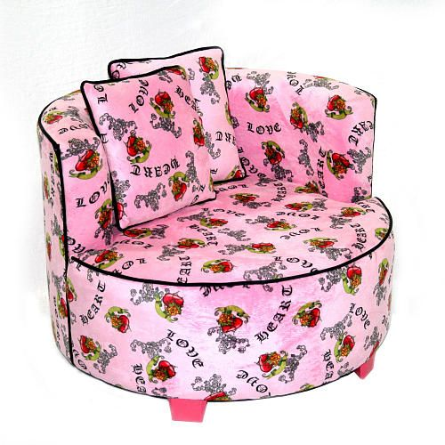 Pleasant Magical Harmony Kids Redondo Chair Minky Pink Heart Tattoo Pabps2019 Chair Design Images Pabps2019Com