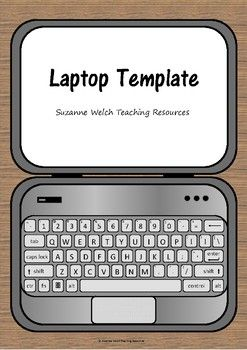 Laptop Template By Suzanne Welch Teaching Resources Teachers Pay Teachers In 2020 Birthday Card Pop Up Greeting Card Craft Whiteboard Marker
