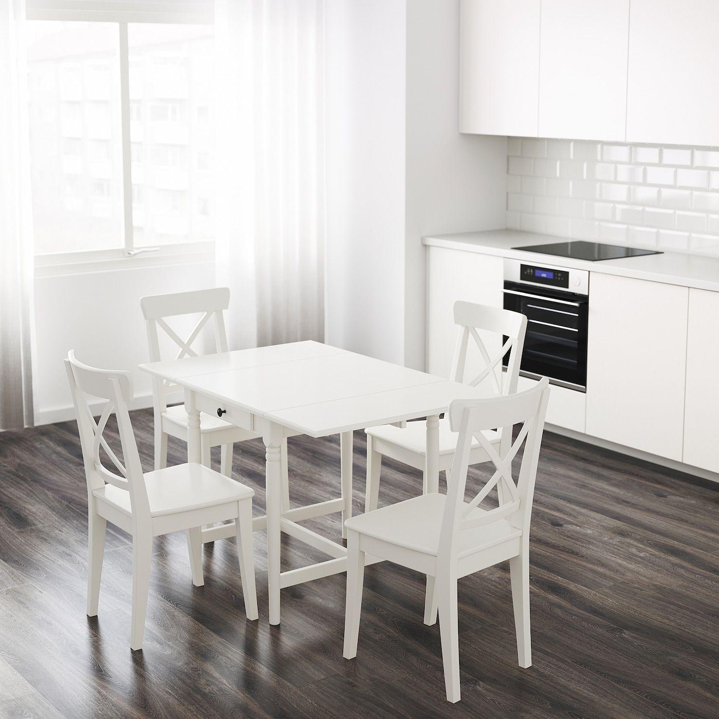 Ingatorp Klapptisch Weiss In 2020 Ausziehtisch Tisch Und Ikea
