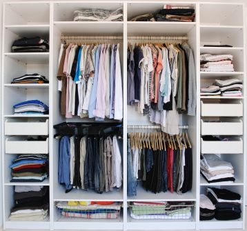 His And Her Closet Sharing Is Caring Organized Life Closet