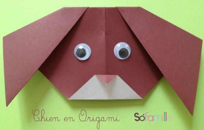chien-origami | atelier / éducation / bricolage | pinterest
