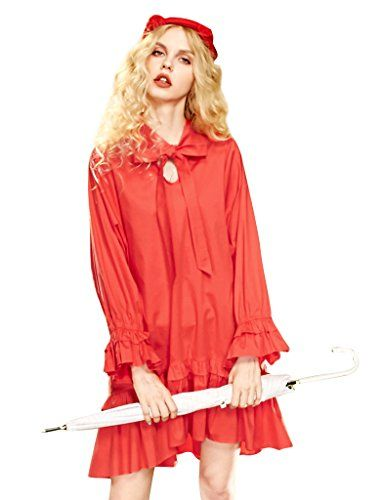 Elf Sack Womens Spring Strings Loose H-line Shift Dress
