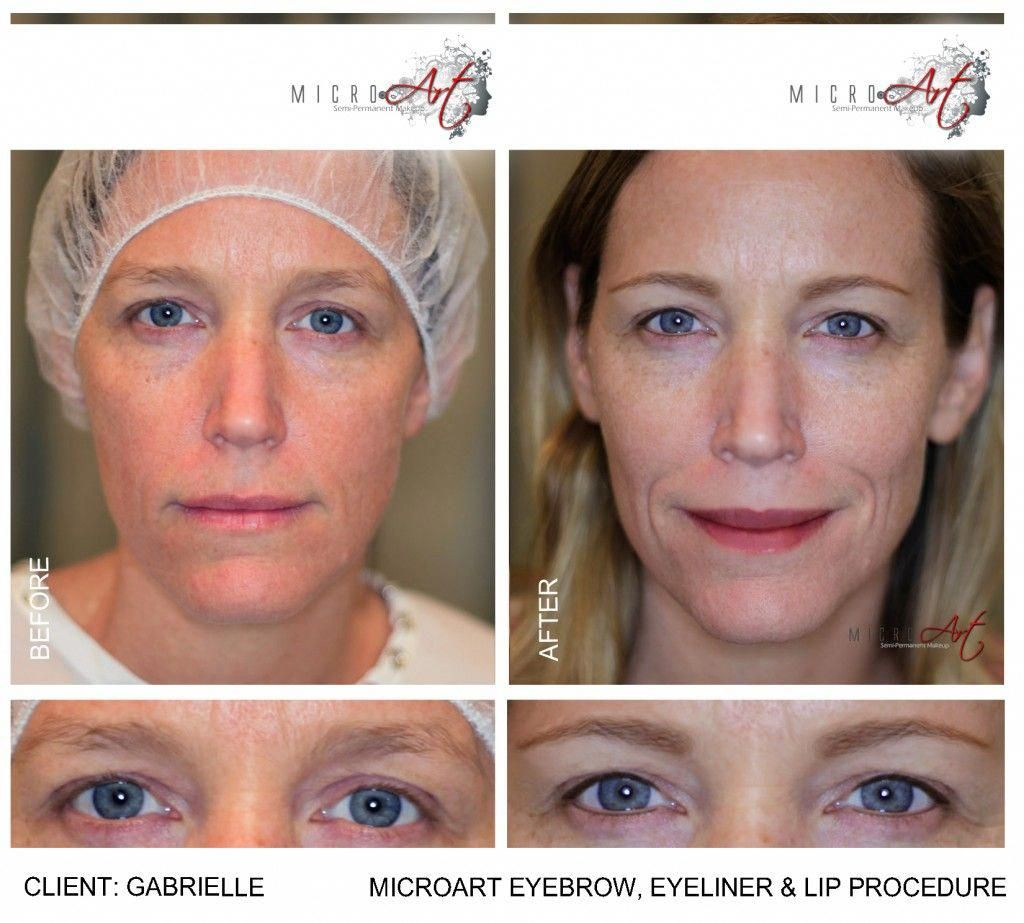 cf6213949 Before and After Photos of MicroArt Semi Permanent Makeup for Eyebrows &  Eyeliner - an Alternative to Eyebrow Tattooing and Permanent Cosmetics # ...