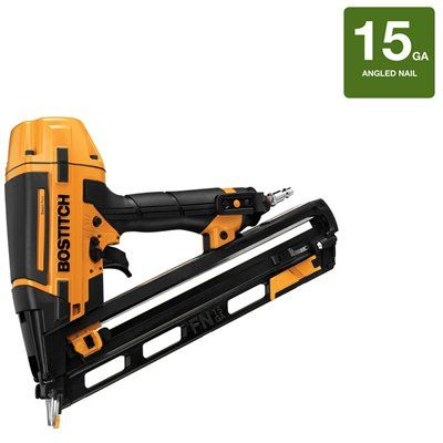 Bostitch Btfp72156 15 Gauge Smart Point Fn Style Angled Finish Nailer Kit Finish Nailer Pneumatic Nailers Nailer