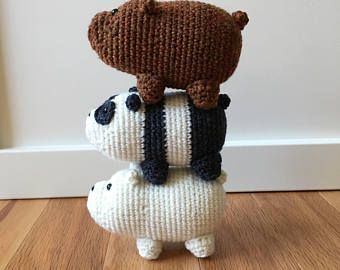 CROCHET PATTERN We Bare Bears Inspired Amigurumi SugarLYS | Oso de ... | 270x340