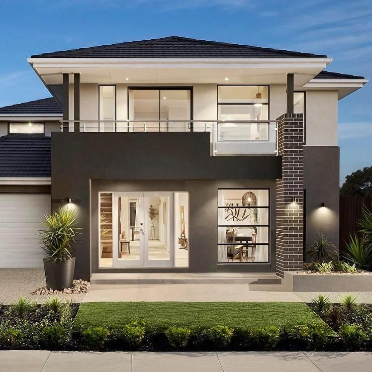 Unique And Stunning Modern 2 Story House Is Designed In A Two Tone