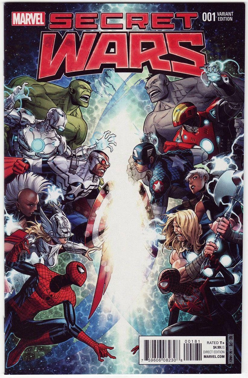 Secret Wars 1 Jim Cheung 1 100 Variant Marvel Avengers Spider Man Marvel Comics Covers Marvel Secret Wars Marvel