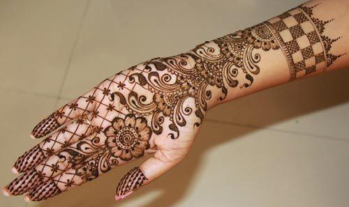 Bridal Mehndi Gta : Simple fancy beautiful arabic bridal mehndi design for hands