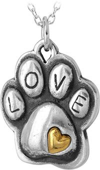 Touch of Love Paw Print Necklace at The Animal Rescue Site