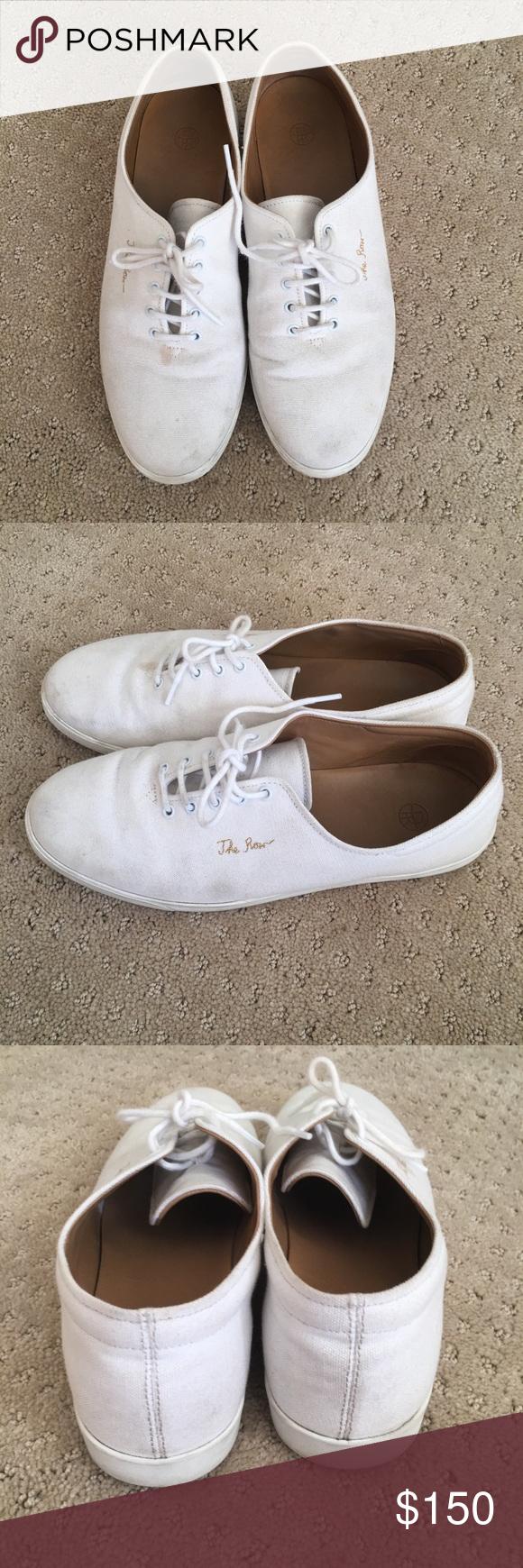6bd588327664 The Row Dean Canvas White tennis shoe