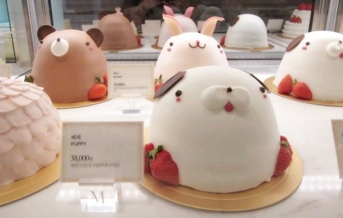 Teddy Bear Cake 테디베어케이크 From The Menagerie 메나쥬리 In Seoul More Information Can Be Found No 1 Food Guide Korea